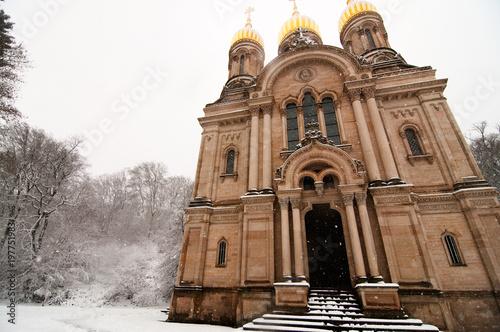 Snowy Church in Germany