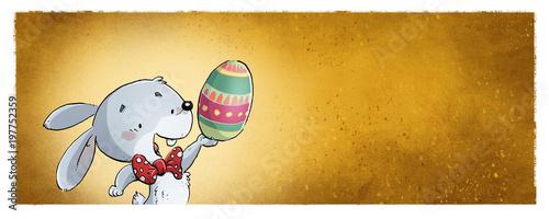 conejo con huevo de pascua - 197752359