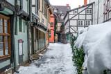 Welterbestadt Quedlinburg im Winter mit Schnee Winterimpressionen