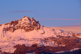 Aiguilles de Chabrieres (Chabrieres Needles) at Sunset in Winter. Ecrins National Park, Hautes-Alpes, French Alps, France - 197757723