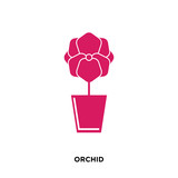 orchid icon isolated on white background for your web, mobile and app design