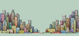 City panorama, hand drawn cityscape, architecture illustration - 197770557