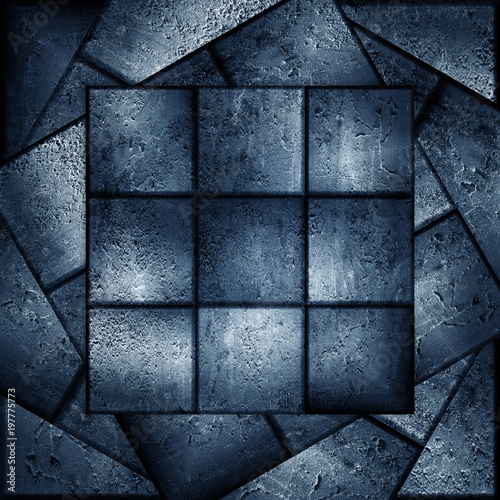 abstract background made from grunge tiles - 197775773