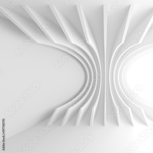 Staande foto Abstract wave Abstract Technology Wallpaper. White Tunnel Background