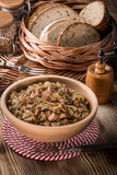 Bigos - stewed cabbage with meat,dried mushrooms and smoked sausage. - 197792996