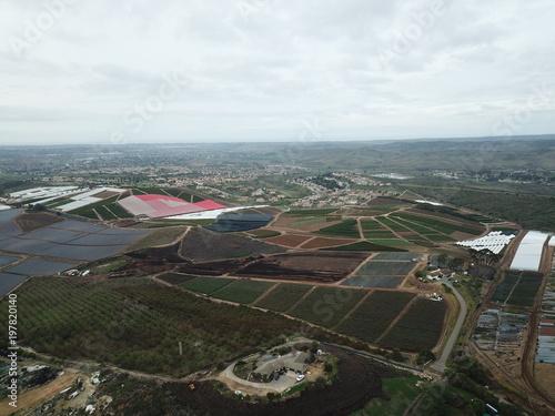 Foto op Aluminium Grijze traf. plants aerea view in oceanside