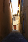 The ancient streets of the Italian city