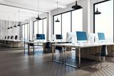 Minimalistic coworking office interior - 197851353