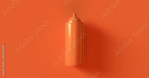 Orange Spray Can 3d illustration