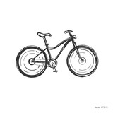 Hand drawn bicycle . Vector sketch bicycle