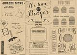 Template Menu for Burger House - 197895114