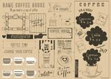 Coffee Menu Craft Placemat - 197895184