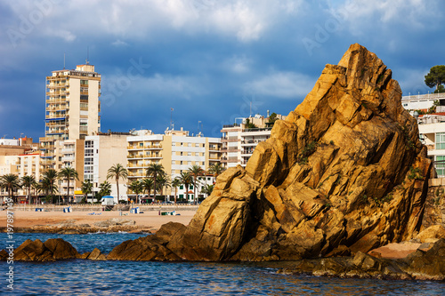 Lloret de Mar Resort Sea Town on Costa Brava in Spain