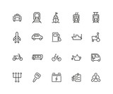 Carriage icon set