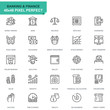 Simple Set Banking and Finance Line Icons for Website and Mobile Apps. Contains such Icons as Balance, E-Banking, Auction, Financial Growth. 48x48 Pixel Perfect. Editable Stroke. Vector illustration.