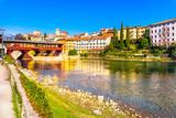 Bassano del Grappa, Old Bridge also known as Bridge of the Alpini. Vicenza, Italy