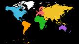 World map vector, Globe vector, Earth