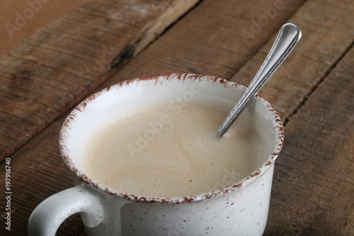 Fotobehang Koffiebonen cafe con leche
