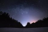 Stars space landscape at dark night