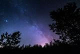 Stars space landscape. Milky Way galaxy at dark night