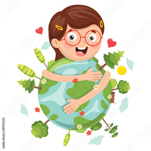 Vector Illustration Of Earth Day - 197953521