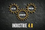Industrie 4.0 mit den Komponenten Big Data, Automation und Vernetzung
