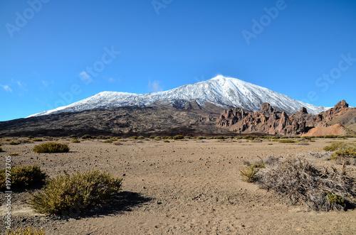 Fotobehang Canarische Eilanden Desert Landscape in Volcan Teide National Park