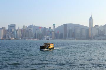 Victoria harbour and Kong Kong skyline