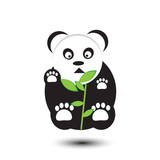 funny panda cartoon