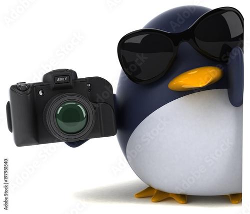 Fun penguin - 3D Illustration - 197981540