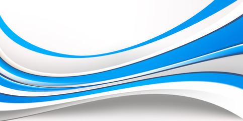 Абстрактный фон состоящий из голубых и серых волн