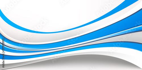 Абстрактный фон состоящий из голубых и серых волн - 197989992