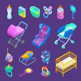Baby  Accessories Isometric Set