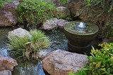 Fountain in Japanese garden in Monte Carlo, Monaco