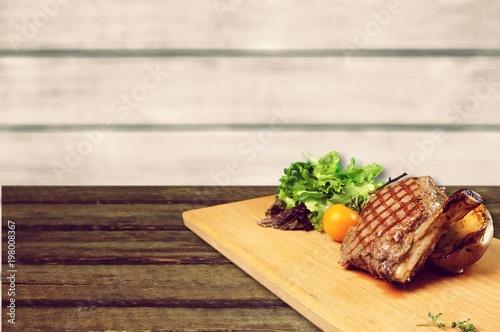 Foto op Plexiglas Steakhouse Steak.