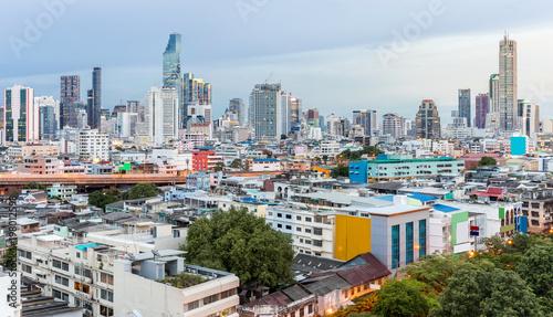 Tuinposter Bangkok Bangkok Skyline Sunset Panorama