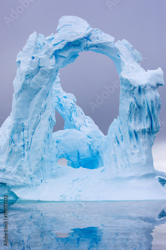 Fotobehang Antarctica Ice Formation in Antarctica. Just beyond the Gerlache Straits is where this Ice Garden exists