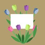 tulips postcard holiday