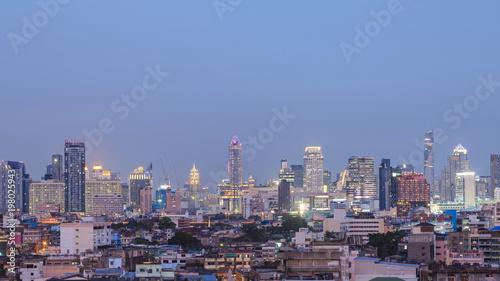 Fotobehang Lavendel evening time view from golden mount, bangkok, thailand