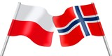 Flags. Poland and Norway