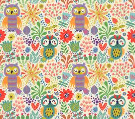 Owls pattern © Guz Anna