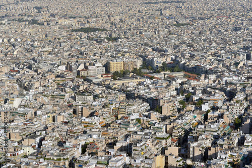 Keuken foto achterwand Athene Athens aerial panoramic view from the Mount Lycabettus in Athens, Greece
