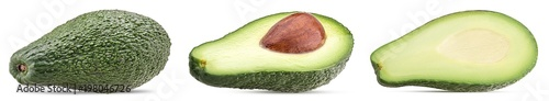 Foto op Aluminium Verse groenten Avocado whole and cut in half with bone