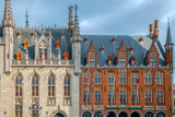 Provinciaal Hof and local post building in Bruges - 198054110