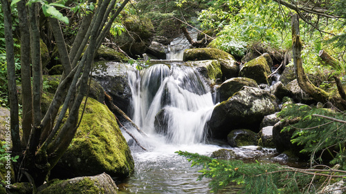 Waterfall of wild place in Vitosha Mountain, Bulgaria.