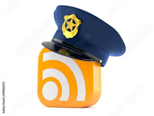 Police hat with RSS icon