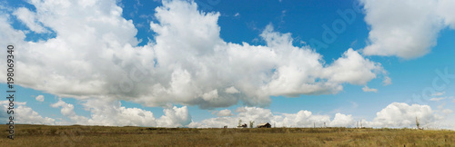 Panorama. Landscape. Tyva. Steppe. Sunny summer day. Outdoors - 198069340