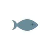 fish flat vector icon
