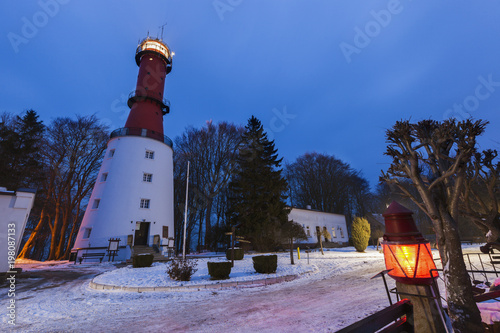 obraz lub plakat Lighthouse in Rozewie at sunset