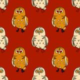 Cute owl seamless pattern. Original design for print or digital media.